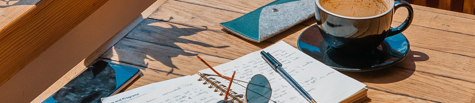 Schrijven met koffie